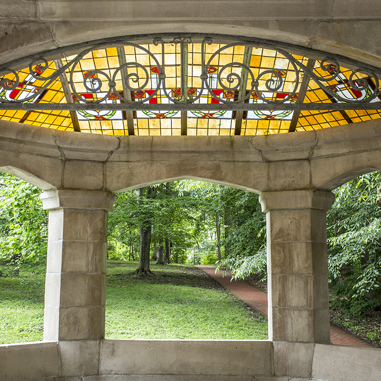 Indiana University - stock photo of Dunn Woods Gazebo