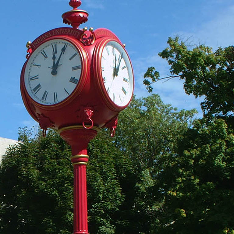 Indiana University - Woodburn Hall outside clock